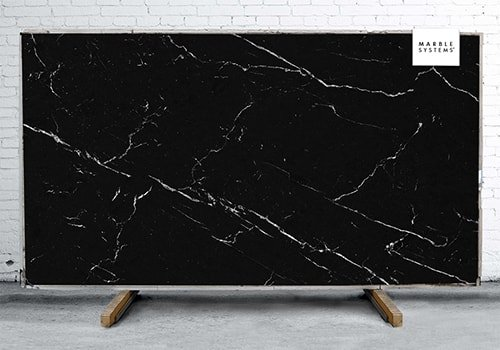 Nero Marquina Nm01r Silk Sintered Stone Slab 125x63