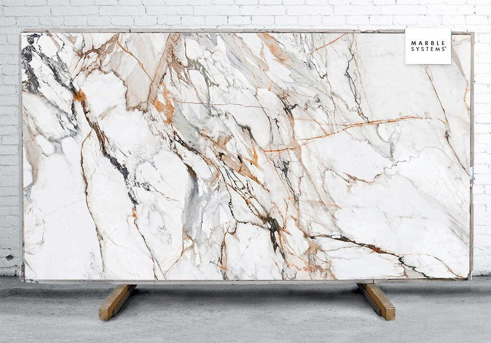 CALACATTA LUXE CL01 POLISHED SINTERED STONE SLAB WNE10138