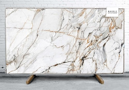 Calacatta Luxe Cl01r Polished Sintered Stone Slab 125x63