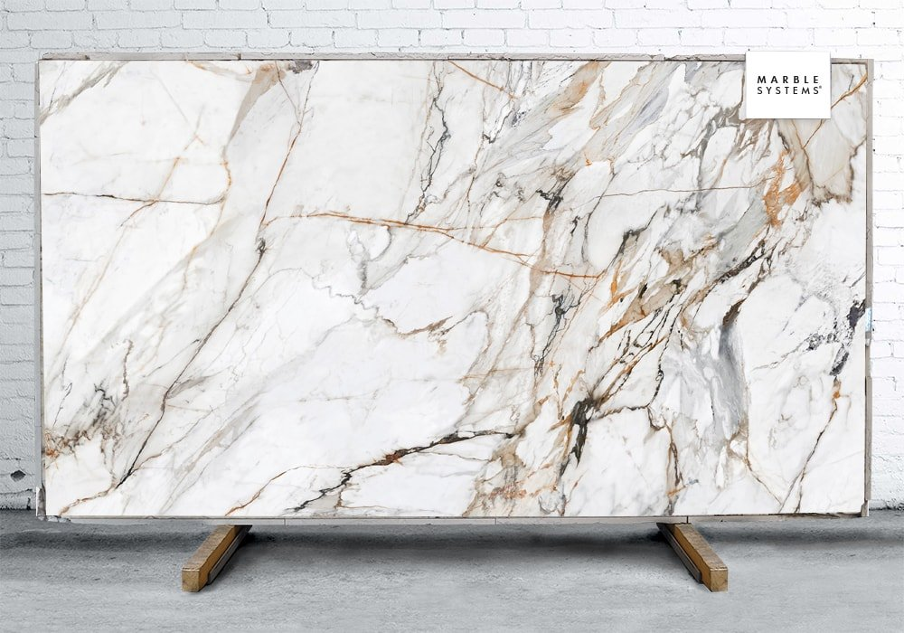 CALACATTA LUXE CL01R POLISHED SINTERED STONE SLAB WNE10139