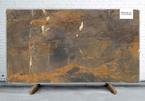 Fossil Brown B Lappato Lucido Porcelain Slab 64x128