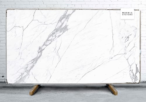 Statuario White Natural Porcelain Slab 64x128