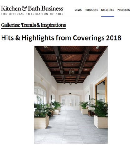 Marble Systems Coverings 2018 Highlights