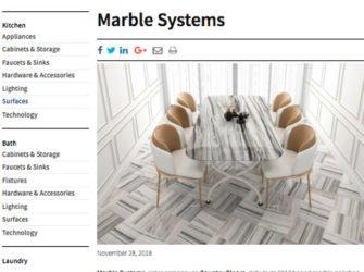 KBB Magazine SkylineHoned MarbleSystems December 2018