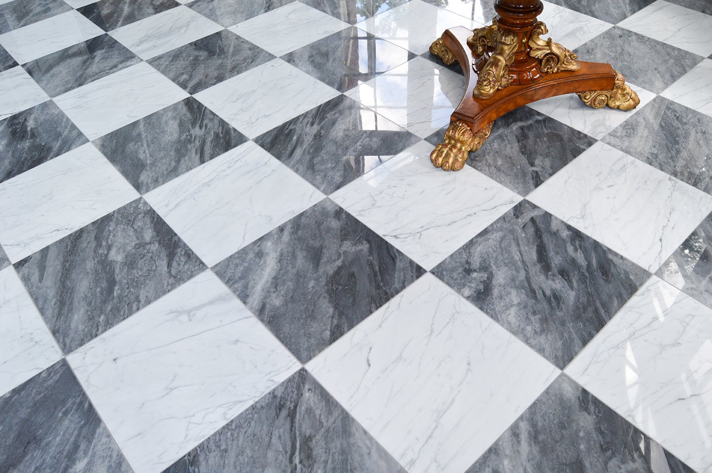 The Timeless Chic Of Black And White Checkered Tile Marble Systems