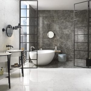 Bianco Carrara Porcelain Collection