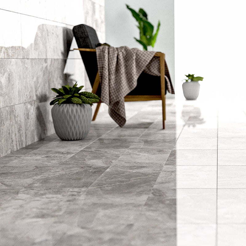 FUSION GRAY POLISHED MARBLE TILES (TL18426)