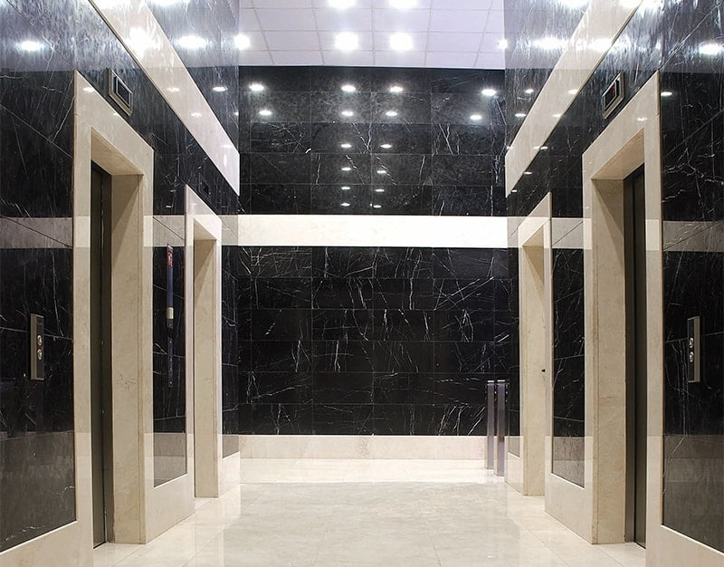 black marble wall tiles